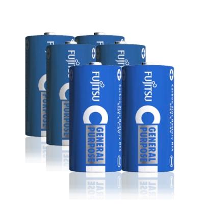 FUJITSU 日本富士通 藍版能量<b>2</b>號C碳鋅電池(6顆入) R14 F-GP