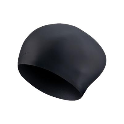 NIKE 男女 成人 泳帽 矽膠 黑 NESSA198-001 (男女泳帽)