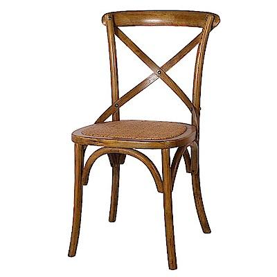 AS-歐爾佳仿古棕色餐椅-50x53x89cm