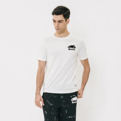 男裝Roots- 左胸立體轉印短袖T恤-白