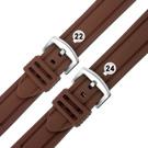 Watchband / 各品牌通用 舒適耐用 輕便 運動型 加厚矽膠錶帶 咖啡