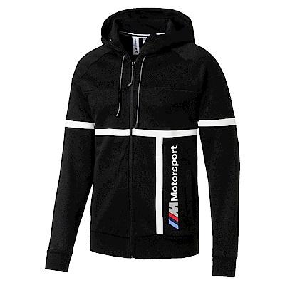 PUMA-男性BMW系列MMS連帽外套-黑色-歐規