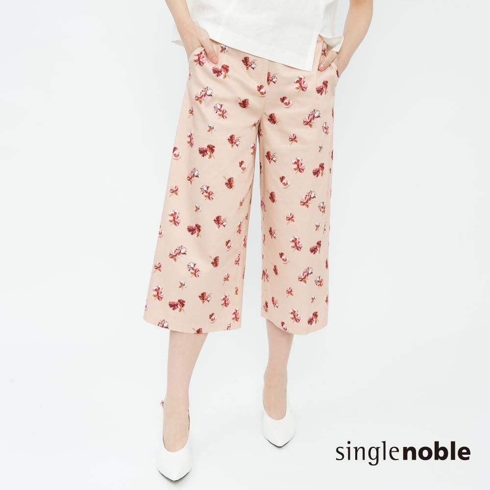 獨身貴族 好感優雅滿版花藝設計寬褲(2色)