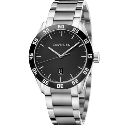 CALVIN KLEIN compete 運動風格系列手錶(K9R31C41)黑/42mm