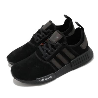 adidas 休閒鞋 NMD R1 襪套式 麂皮 男鞋 海外限定 愛迪達 Boost底 緩震 反光 黑紅 F97419
