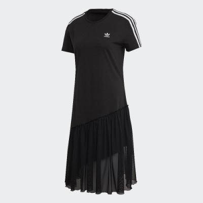 adidas 連身裙 休閒裙 連身洋裝 短袖 女款 黑 GK3663 Bellista