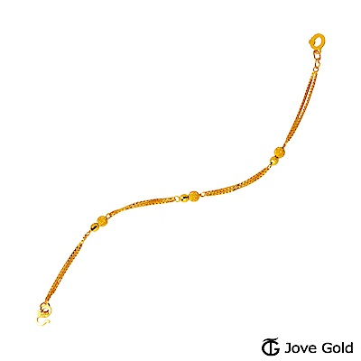 JoveGold漾金飾 愛情對白黃金手鍊