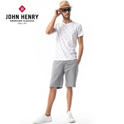 【JOHN HENRY】幾何野生動物短袖T恤-兩色選