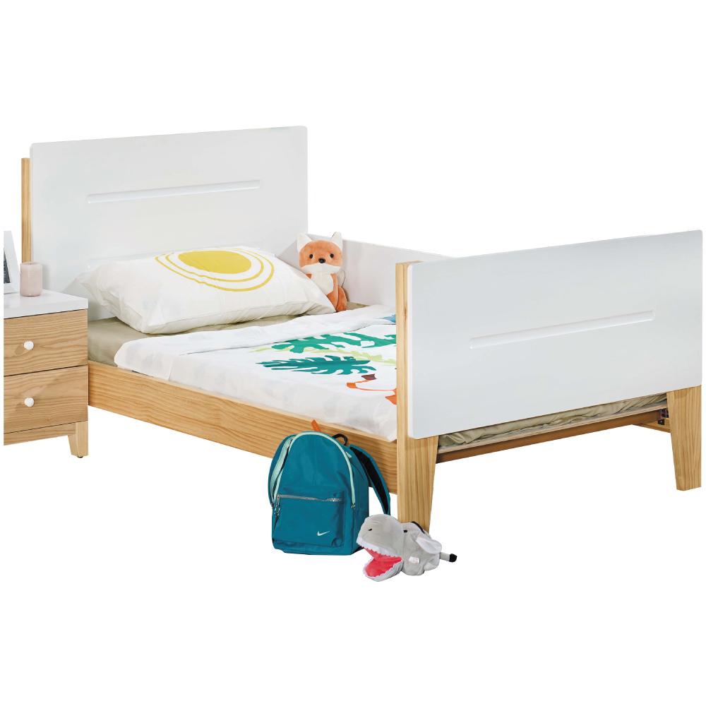 文創集 克蘿雙色3.5尺單人實木床台(不含床墊)-115x197x96cm免組