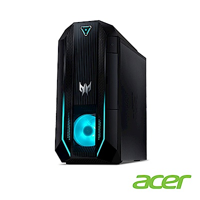 Acer Orion PO3-620 十代i7八核雙碟獨顯電競桌上型電腦(i7-10700/RTX 2060S/32G/512G/2T/Win10h/Predator)