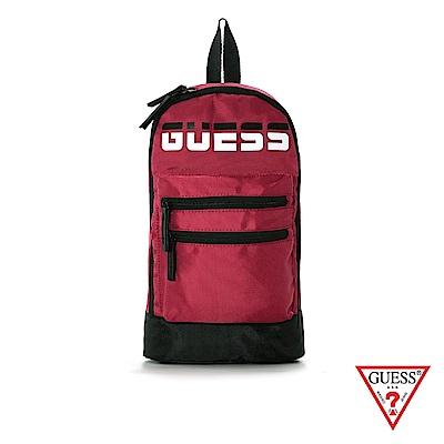 GUESS-男包-時尚撞色LOGO簡約單肩包-紅 原價1590