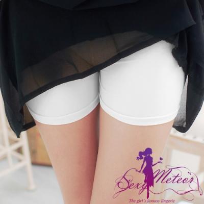 內搭 全尺碼 內搭褲安全褲(白冰絲平口) SexyMeteor