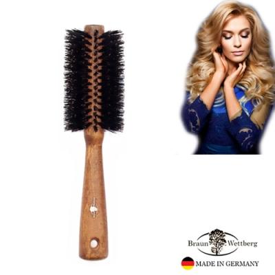 BRAUN WETTBURG珀薇德國製 60MM厚實原木黑豚鬃熱塑捲髮梳  (一入)