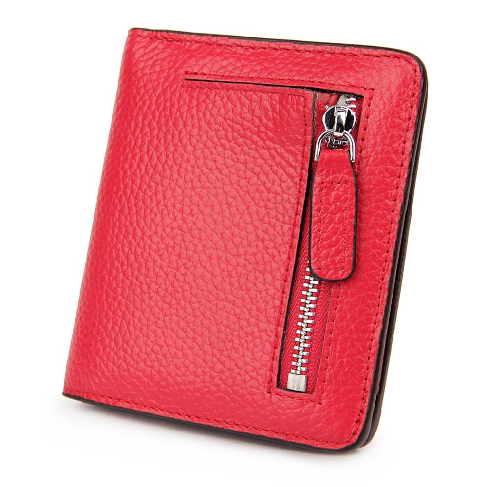 玩皮工坊-真皮頭層牛皮輕薄女士皮夾皮包錢包短夾女夾-LH116