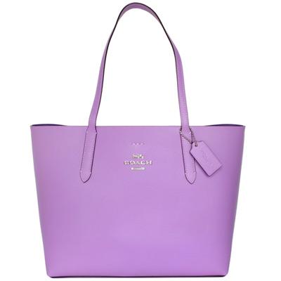 COACH AVENUE TOTE浪漫粉紫全皮肩背托特包