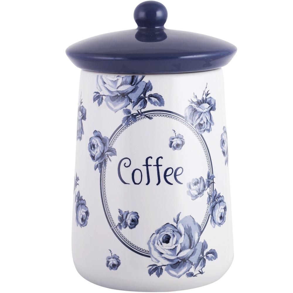 CreativeTops Katie復古藍咖啡陶製密封罐(白)