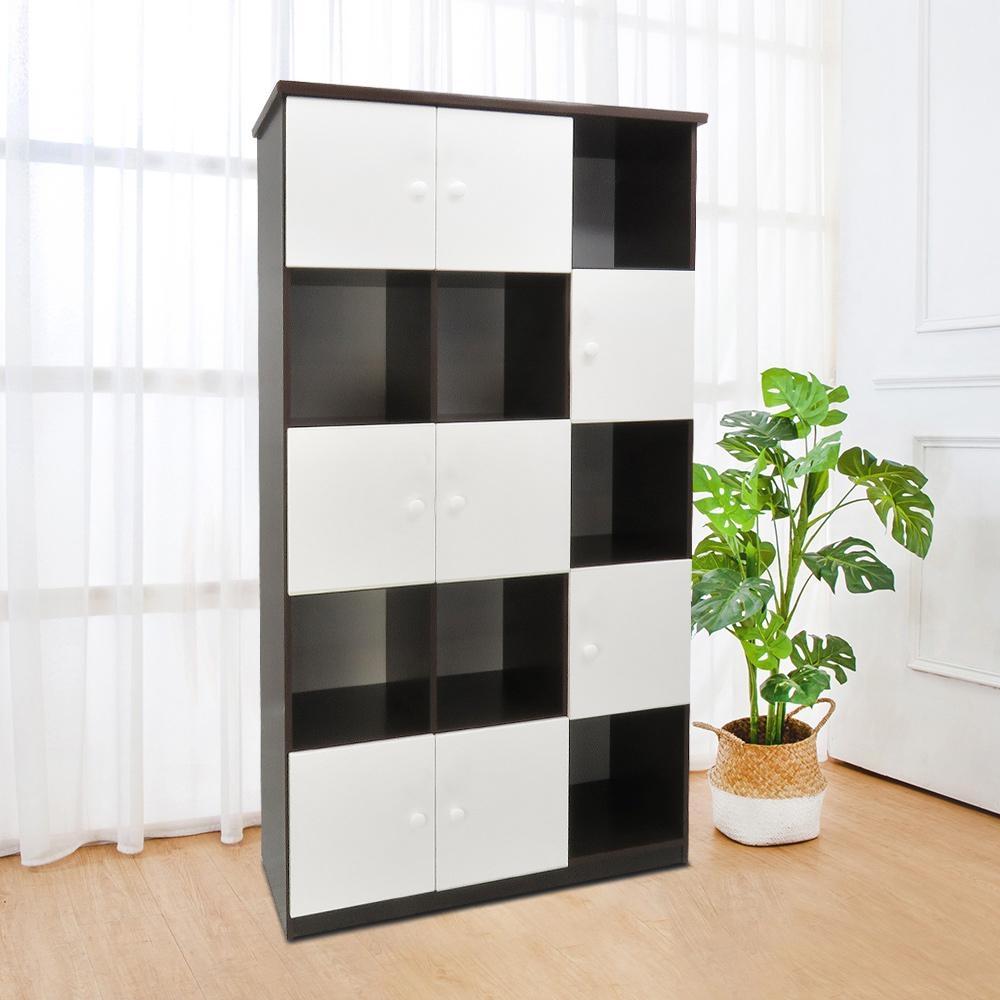 Boden-3.3尺八門開放式防水塑鋼收納櫃(五色可選)-98x43x180cm