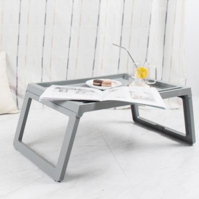 樂嫚妮 懶人桌/電腦桌/床上/多功能/折疊-灰-68X35X27.5cm