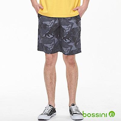 bossini男裝-迷彩輕便短褲01冷灰
