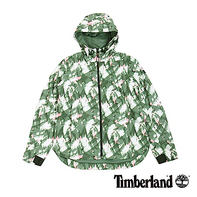 Timberland 女款鴨綠色印花防水外套