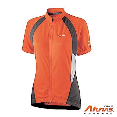 《Atunas 歐都納 Bike》B13037W 女吸濕排汗短袖車衣 橘