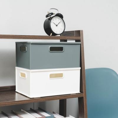 樂嫚妮 堆疊/收納整理箱/收納盒/收納置物箱-4入含一蓋-2色