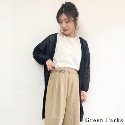 Green Parks 【SET ITEM】甜美蕾絲上衣+透光長版罩衫