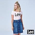 Lee 水彩大LOGO短袖Tee-粉紅