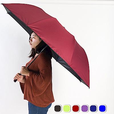 雙龍TDN 大王傘 超撥水降溫晴雨自動傘-良品紅