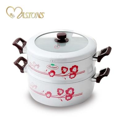 【美心 Masions】珍珠鍋系列-三鍋一體 28CM(珍珠銀)