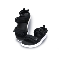 New Balance 涼拖鞋 基本款 魔鬼氈 男女鞋 黑 SDL600BKD