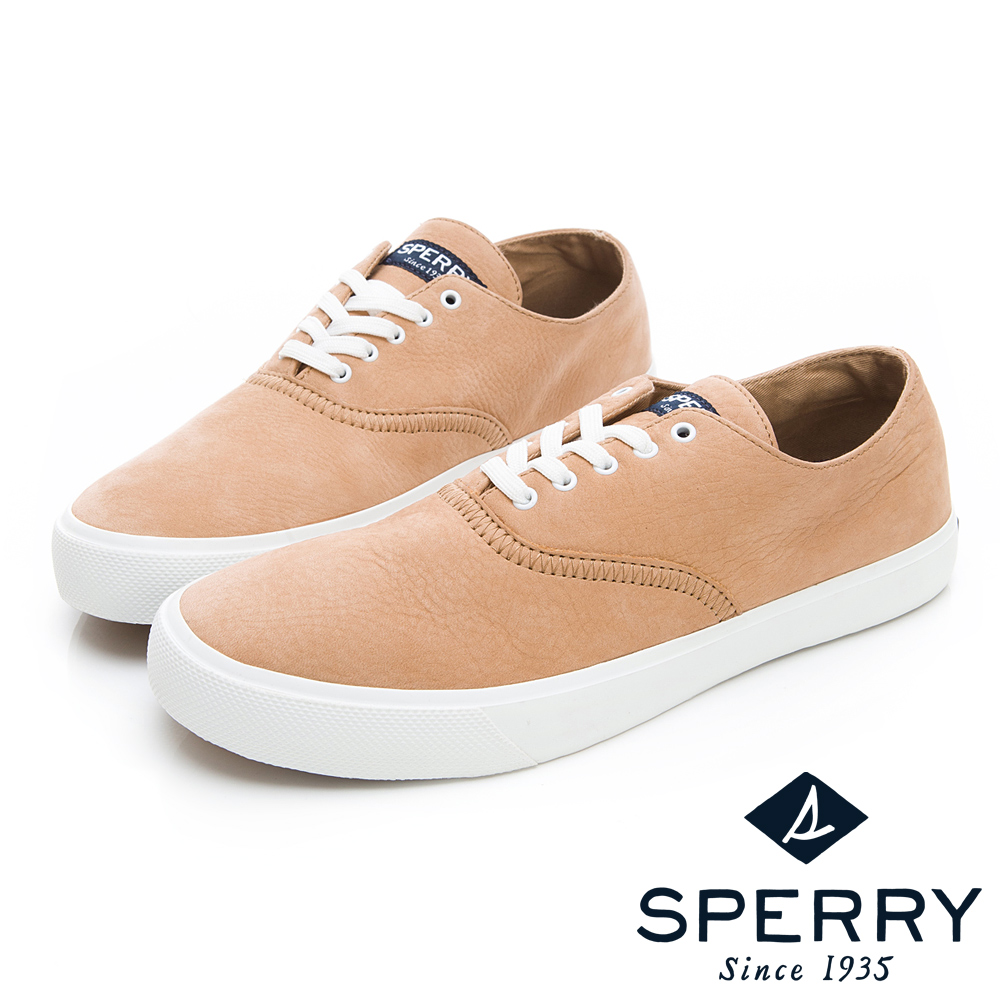 SPERRY 玩色魅力輕量牛皮休閒鞋(男)-淺棕