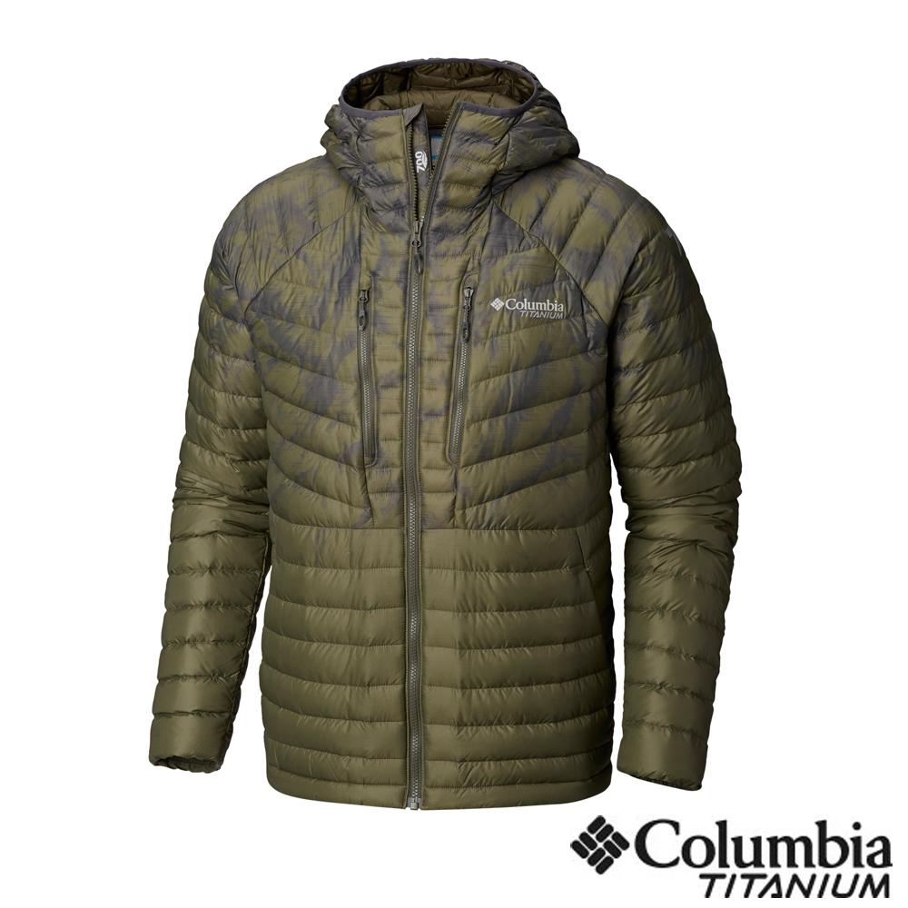 Columbia哥倫比亞 男款-鈦 羽絨外套-軍綠 UWE08660AG