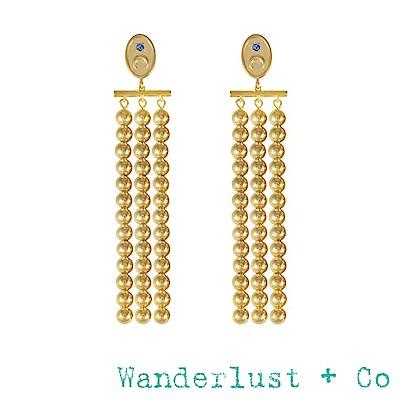 Wanderlust+Co 澳洲品牌 金色月之女神耳環 浪漫垂墜式耳環 LUNA DROP