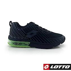 LOTTO 義大利 男 疾風KPU氣墊跑鞋 (黑/螢光綠)