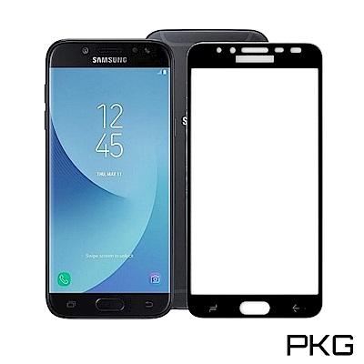 PKG 三星J8 2018保護貼-全滿版玻璃(黑框)