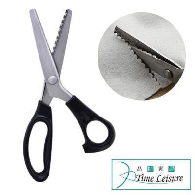 Time Leisure 服裝裁縫專用布花邊波浪造型半圓齒剪刀 5mm