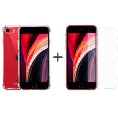 Metal-Slim Apple iPhone SE(第二代) 2020 強化軍規防摔抗震手機殼+玻璃貼