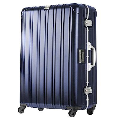 日本 LEGEND WALKER 6201L-69-28吋 電子秤行李箱 消光藍
