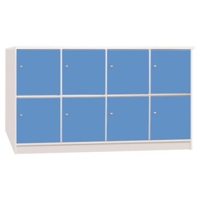 文創集 海卡森環保5.6尺塑鋼八門收納櫃-168.5x42x92cm免組
