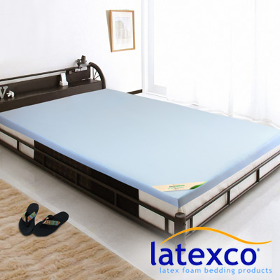 LooCa 吸濕排汗5cm latexco乳膠床墊(單人3尺)