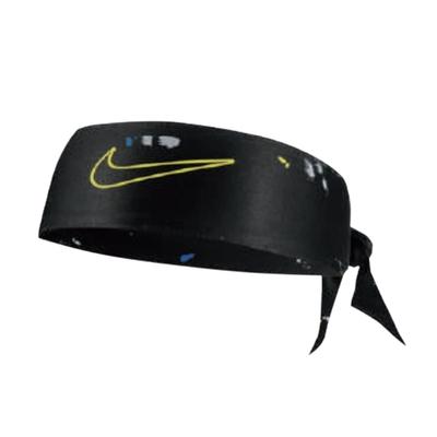 Nike 頭帶 Freeform Head Tie 男女款 吸濕排汗 快乾  運動休閒 髮帶 穿搭 黑 黃綠 N1003338912OS