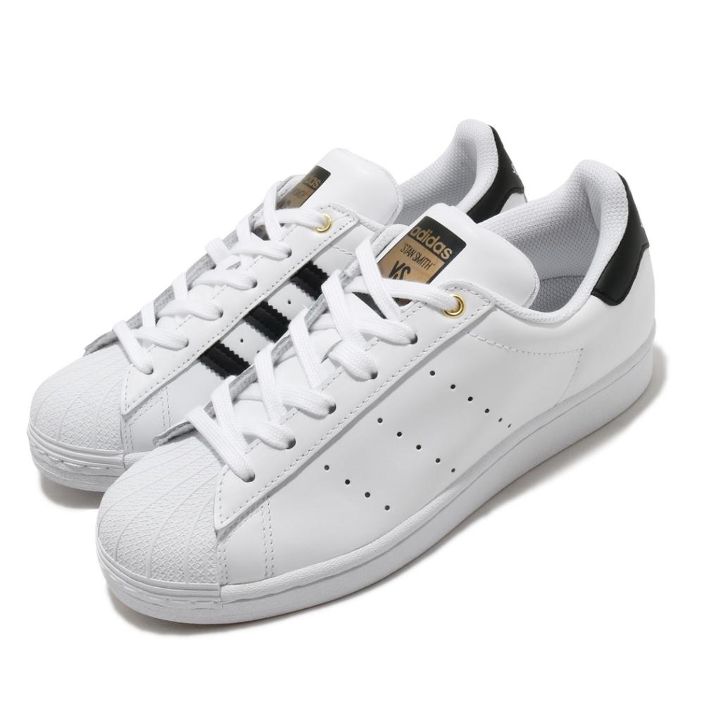 adidas 休閒鞋 Superstar Stan Smith 女鞋 愛迪達 三葉草 貝殼頭 史密斯 合體鞋 白 黑 FX7577