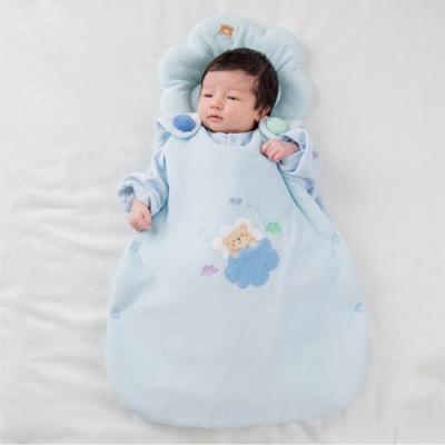 【妖精之森】純棉鋪棉睡袋防踢被-小熊