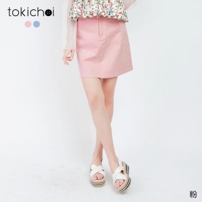 東京著衣 甜美女孩糖果色系休閒短裙-S.M.L