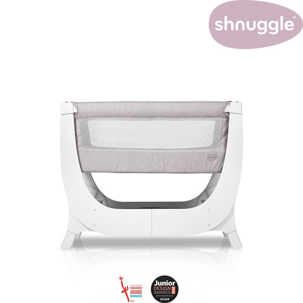 【Shnuggle】Air成長型床邊嬰兒床0-6m-迷霧紫(雙階段轉換成長床邊床)