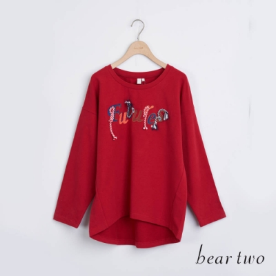 bear two- 立體文字T - 紅
