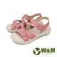 W&M (女)花朵黏扣帶 厚底彈力涼鞋 -粉(另有灰米色) product thumbnail 1