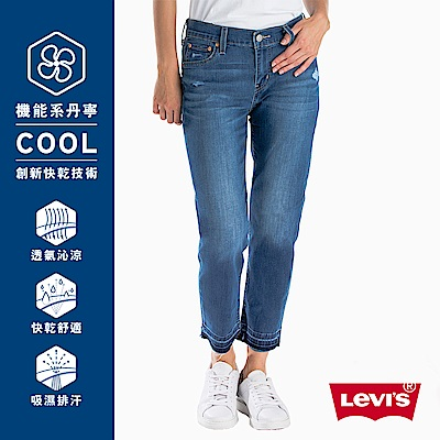 Levis 男友褲 中腰寬鬆版牛仔長褲 Cool Jeans 彈性布料