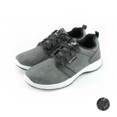 ARRIBA艾樂跑男鞋-透氣布面休閒鞋-黑灰/黑(FA486)